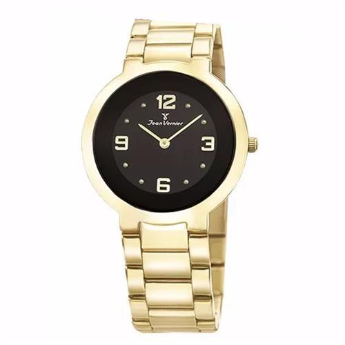 Relógio Jean Vernier Analógico JV1120 Fundo Preto