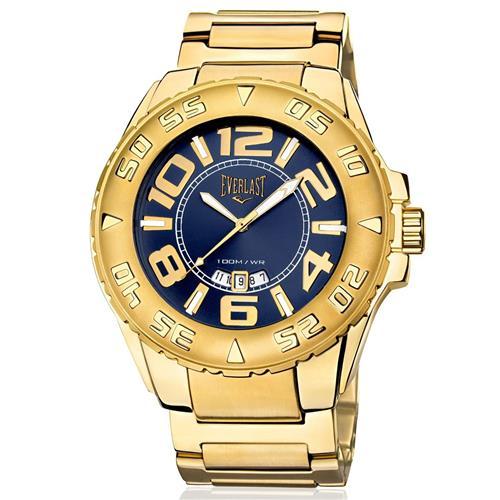 Relógio Masculino Everlast Analógico E627 Fundo Azul