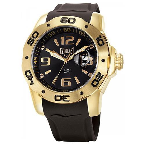 Relógio Masculino Everlast Analógico E527 Dourado