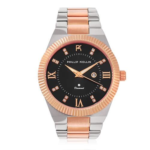 Relógio Feminino Phillip Kollin St. Maarten Royalty Mixed Black ZY28056P com Diamante