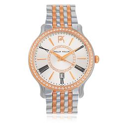 Relógio Feminino Phillip Kollin Calabria Mixed Rose Silver ZY28038S Fundo Prateado