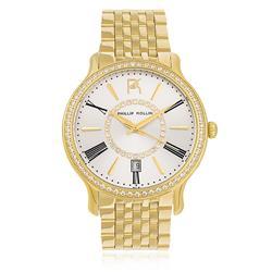 Relógio Feminino Phillip Kollin Calabria Gold Silver ZY28038H Dourado