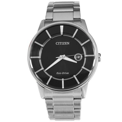 Relógio Masculino Citizen Eco-Drive Analógico TZ20073T Fundo Preto