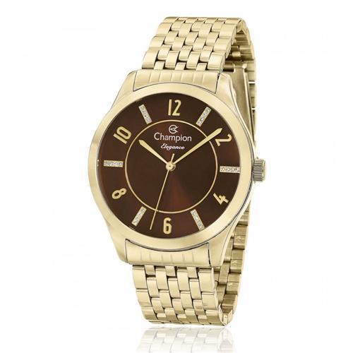 Relógio Feminino Champion Elegance CN27698X Dourado