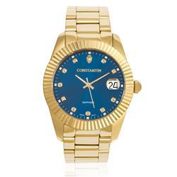 Relógio Constantim Diamond Gold Blue