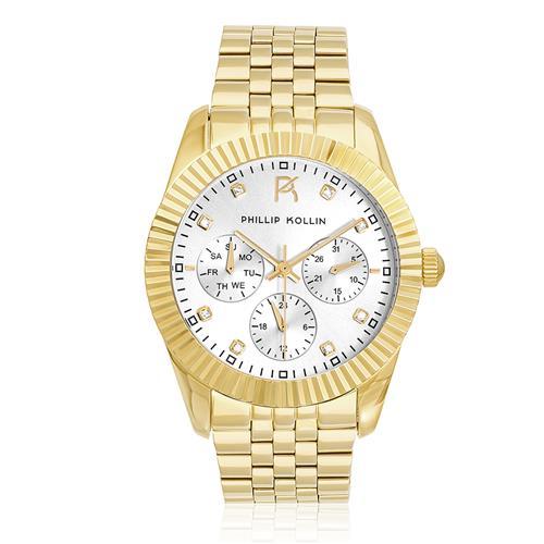 Relógio Feminino Phillip Kollin Bali Gold Silver Ref ZY28065H Dourado