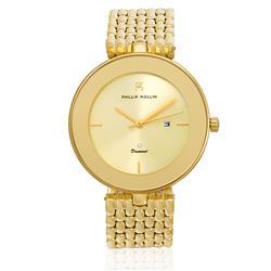 Relógio Feminino Phillip Kollin Ibiza Diamond All Gold Ref ZY28029G Dourado