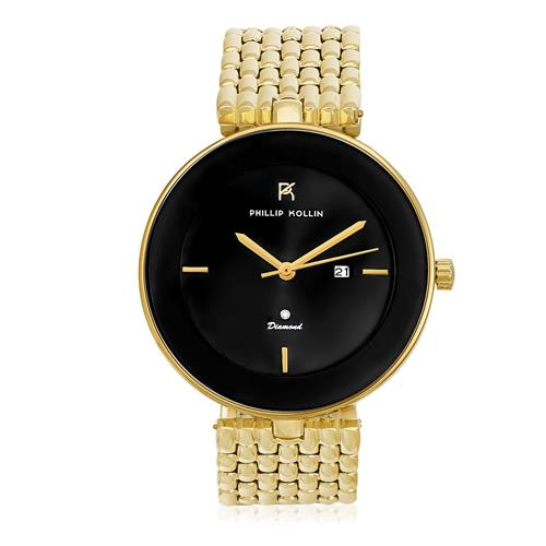 Relógio Phillip Kollin Ibiza Diamond Gold Black 50387