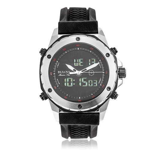 Relógio Masculino Bulova Marine Star ANADIGI WB10028T Borracha