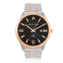 Relógio Feminino Phillip Kollin St. Maarten Glam Diamond Mixed Rose Black