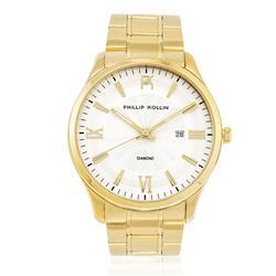 Relógio Feminino Phillip Kollin St. Maarten Glam Diamond Gold White