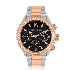 Relógio Feminino Phillip Kollin St. Maarten Mixed Rose Black Ref ZY28172P Misto