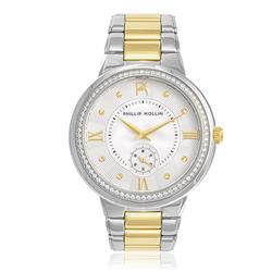 Relógio Feminino Phillip Kollin St. Maarten Mixed Gold White ZY28172S Aço Misto
