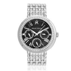 Relógio  Feminino Phillip Kollin Genova Silver Black Ref ZY28181T