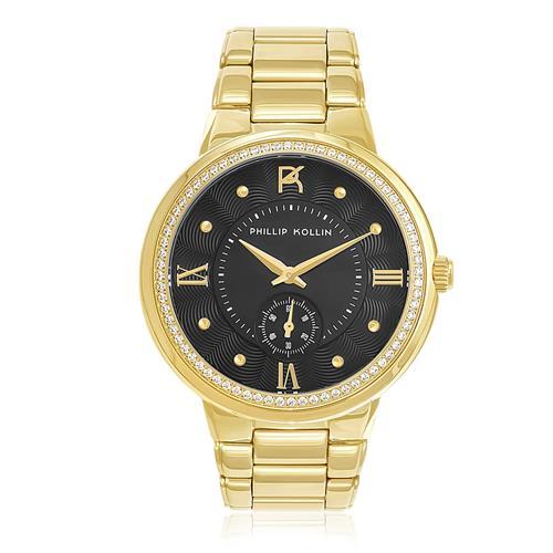 Relógio Phillip Kollin St. Maarten Gold Black