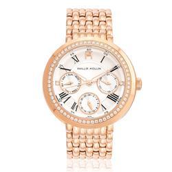 Relógio Feminino  Phillip Kollin Genova Rose Silver Ref ZY28181M Rose