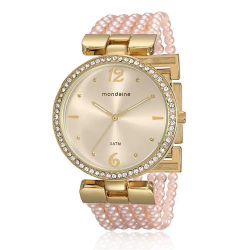 Relógio Feminino Mondaine Analógico 76503LPMVDM2 Pérolas