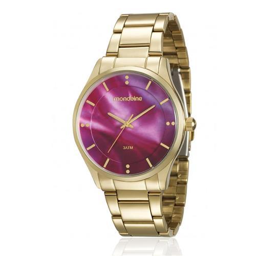 Relógio Feminino Mondaine Analógico 99089LPMVDE1 Fundo Rosa