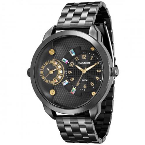 Relógio Feminino Mondaine Analógico 76544LPMVPE6 Aço Negro