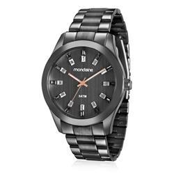 Relógio Feminino Mondaine Analógico 78663LPMVPA5 Aço Negro
