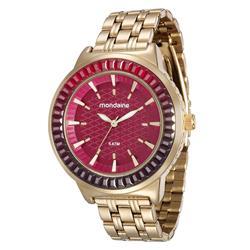 Relógio Feminino Mondaine Analógico 76624LPMVDE2 Fundo Vermelho