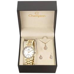 Relógio Feminino Champion Analógico CN29089W Kit Colar e Par de Brincos