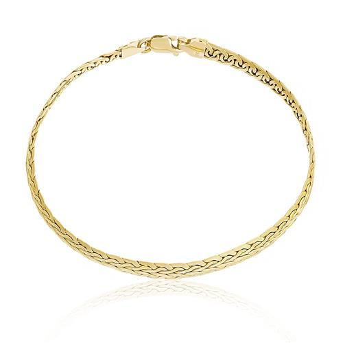 Pulseira com malha estilo Serpente, em Ouro Amarelo