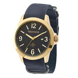 Relógio Masculino Technos Golf Analógico 2115KSO/2A Couro Azul