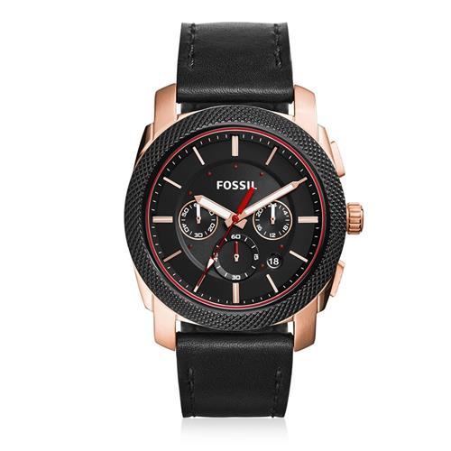 Relógio Masculino Fossil Analógico FS5120/0PN Couro Preto