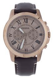 Relógio Masculino Fossil Analógico FS5107/2DN Couro
