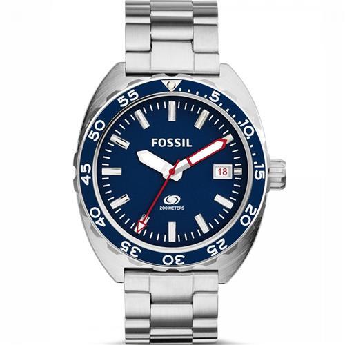 Relógio Masculino Fossil Analógico FS5048/1AN Fundo Azul