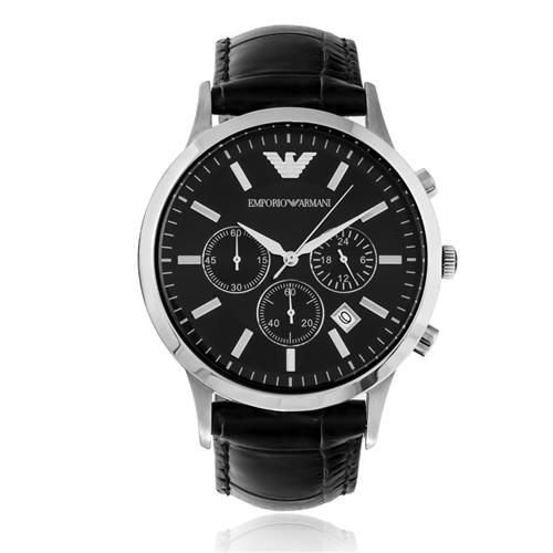 Relógio Masculino Emporio Armani AR2447/0PN Couro Preto