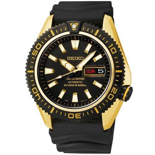 Relógio Masculino Seiko Air Diver Limited Edition 4R36BI/8P P1PX Borracha