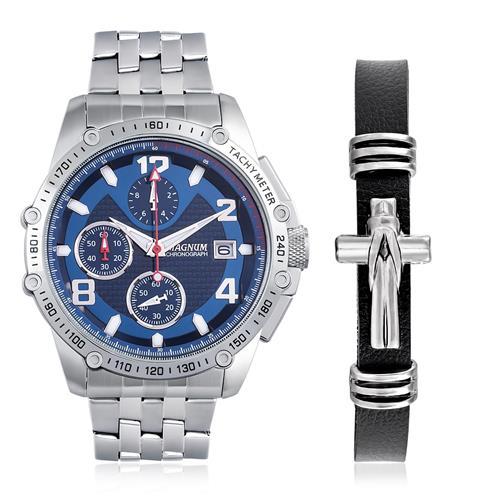 Relógio Masculino Magnum Analógico MA32461O Kit Pulseira