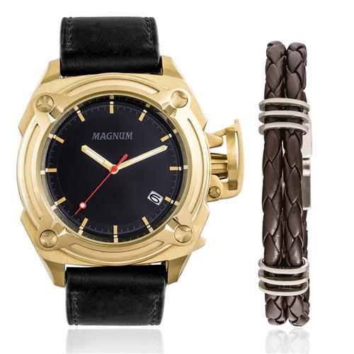 Relógio Masculino Magnum Analógico MA34503C Kit com Pulseira