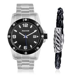 Relógio Masculino Magnum Analógico MA34709C Kit com Pulseira