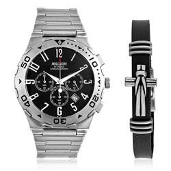 Relógio Masculino Magnum Steel Analógico MA30310C Aço