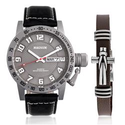 Relógio Masculino Magnum Analógico MA33139X Kit com Pulseira