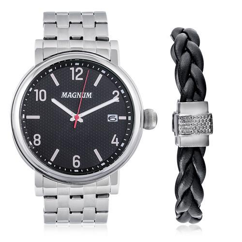 Relógio Masculino Magnum Analógico MA21955C Kit com Pulseira