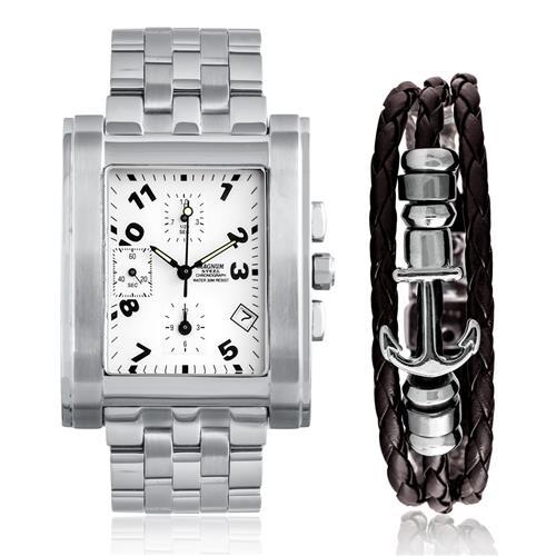 Relógio Masculino Magnum Analógico MA30294D Kit Pulseira