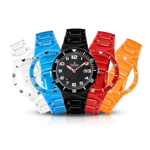 Relógio Champion Analógico CP30119X Troca Pulseiras
