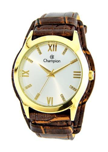 Relógio Feminino Champion Analógico CN20346S Couro Marrom