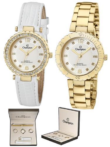 Relógio Feminino Champion Analógico CN29203H Troca Pulseira