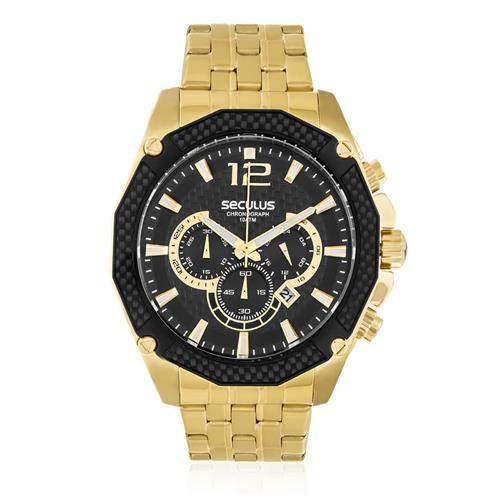 Relógio Masculino Seculus Chronograph 20247GPSVDA3 Dourado