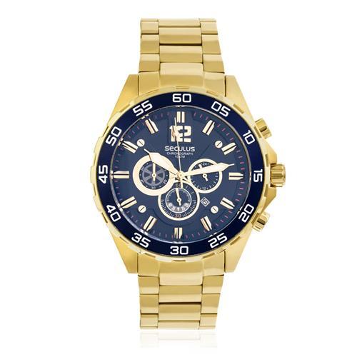 Relógio Masculino Seculus Chronograph 20372GPSVDA4 Dourado