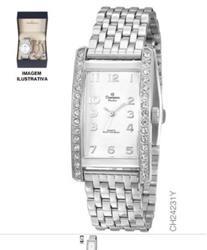 Relógio Feminino Champion Passion Analógico CH22859W Aço