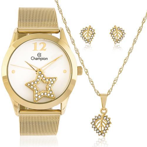 Relógio Feminino Champion Analógico Ref CH25918W Dourado
