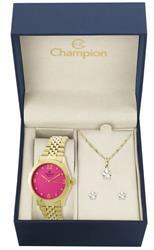 Relógio Feminino Champion Passion CN25298J  Kit Colar e Par de Brincos
