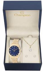 Relógio Feminino Champion CN26251K Kit Colar e Par de Brincos