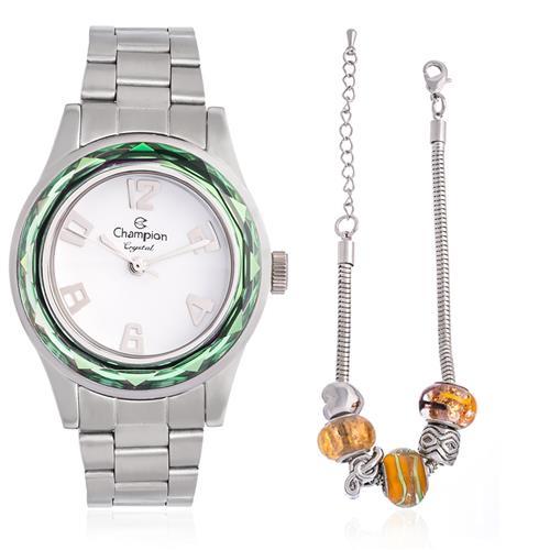 Relógio Feminino Champion CN29990Y  Kit Colar e Par de Brincos